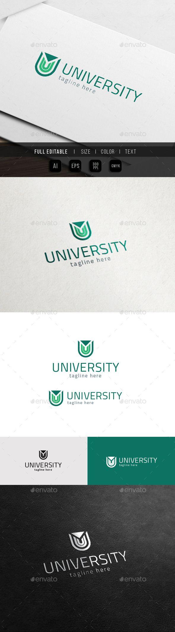U Logo  University Universe — Vector EPS #info #letter U • Available here → https://graphicriver.net/item/u-logo-university-universe/11785330?ref=pxcr