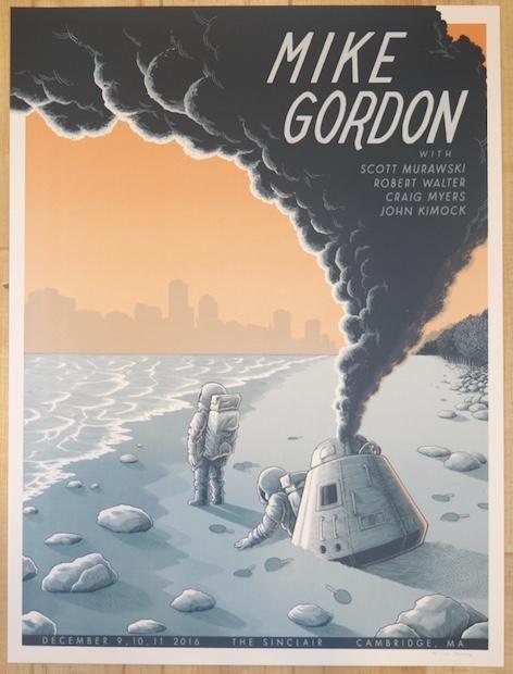 2016 Mike Gordon - Cambridge Silkscreen Concert Poster by Justin Santora