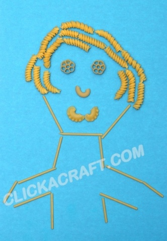 Macaroni Portrait - Click on image to see step-by-step tutorial.