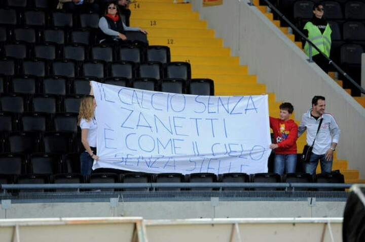 From Udinese fans to Javier Zanetti