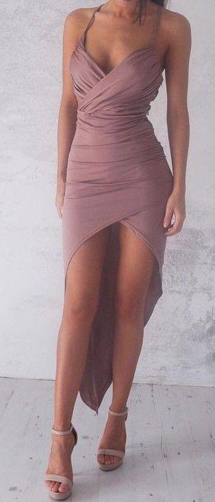 #summer #flirty #outfitideas Pink High & Low Dress