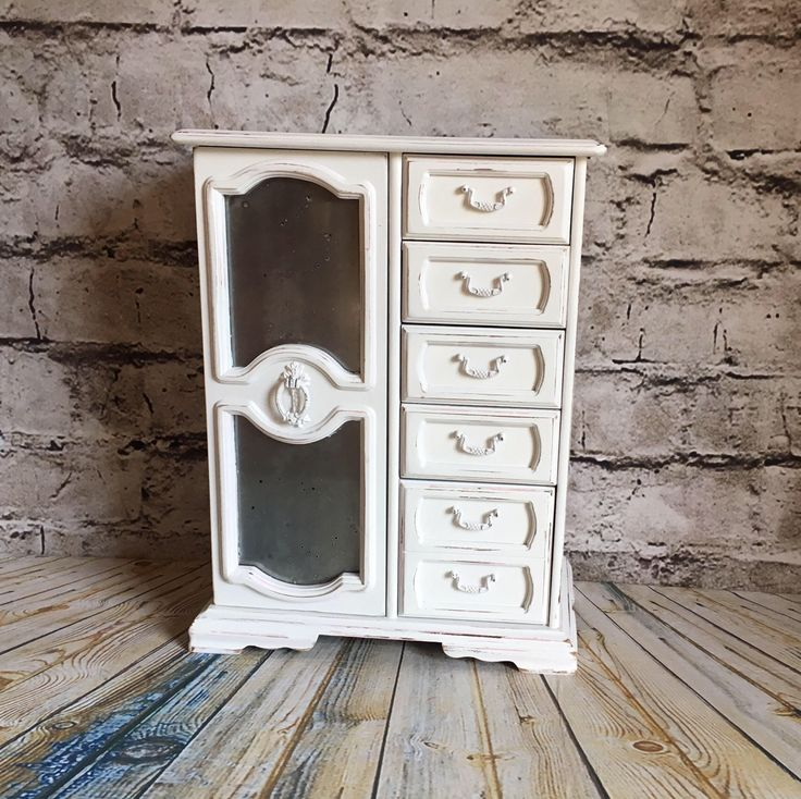 A personal favorite from my Etsy shop https://www.etsy.com/listing/544168299/jewelry-box-white-jewelry-box-vintage