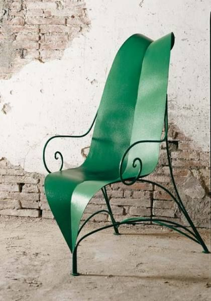 leaf chair - italian design: Leaf Chairs, Patio Chairs, Queen Bees, Gardens Chairs, Armchairs, Leaves, Italian Design, Courtyards, Organizations Design