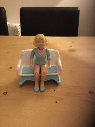 Vintage-fisher-price-loving-family-dolls-house-furniture-accessories-Set-bundle