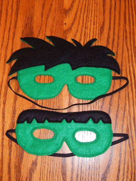 Hulk Avengers Felt Superhero Mask Costume - Any Size Avaliable on Etsy, € 6,12