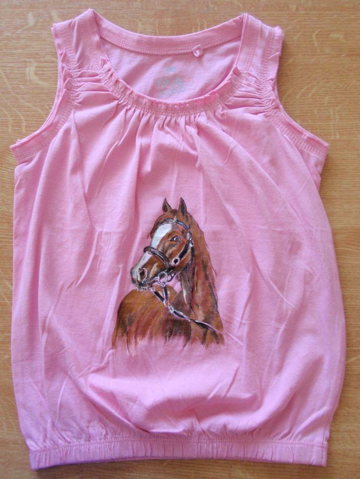 horse paiting on shirt, by Eberika