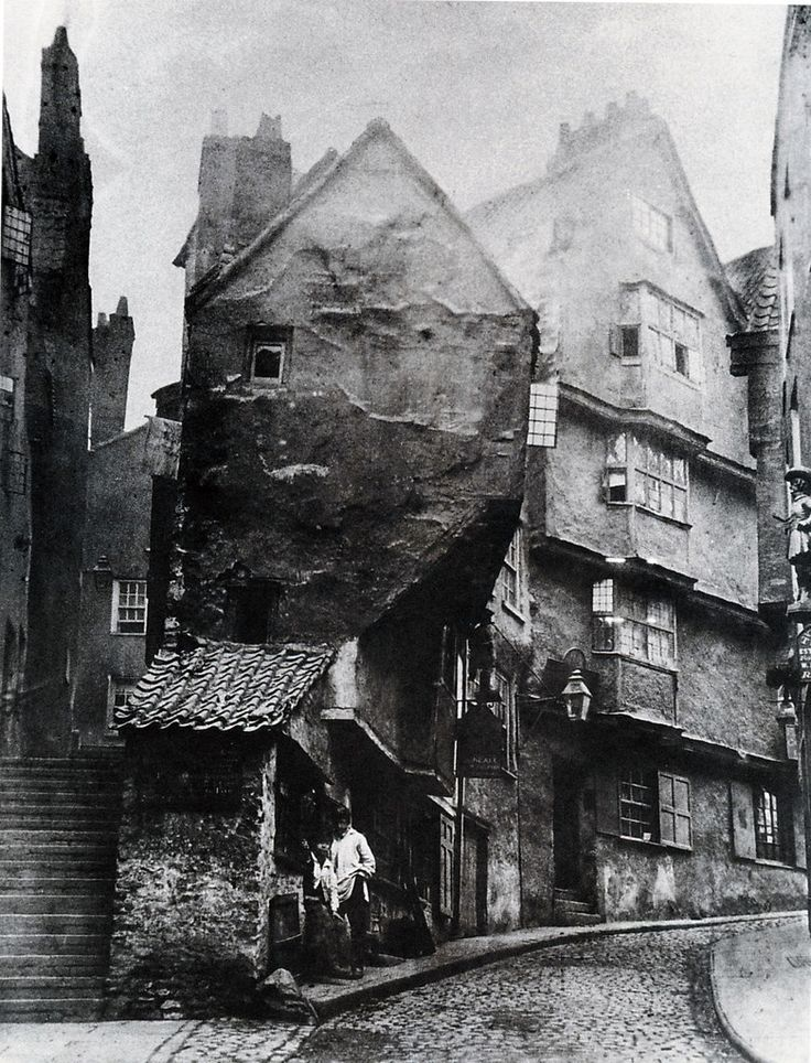 1866 medieval Steep Street from the junction with Trenchard Street | by brizzle born and bred