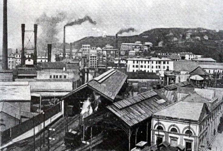 Stazione ferroviaria e polo industriale della Fiumara a fine Ottocento