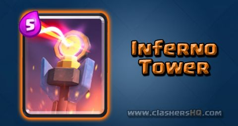 Find all about the Clash Royale Inferno Tower Card. How to get Inferno Tower & attack/counter Inferno Tower effectively.
