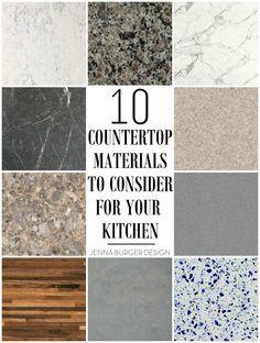 17 Best Ideas About Countertop Materials On Pinterest