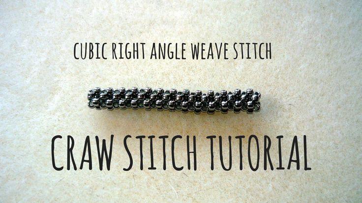 Tutorial krok po kroku na ścieg CRAW (Cubic Right Angle Weave Stitch) | ...