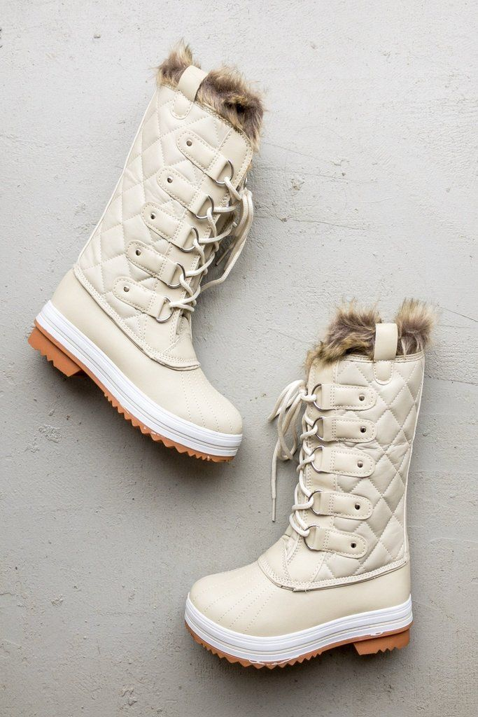 Boots, White winter boots, Bootie boots