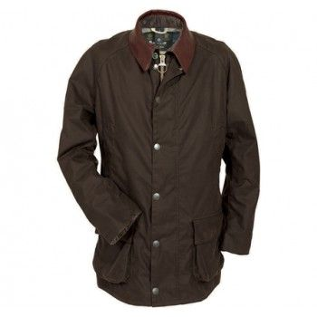 Barbour Mens Carraw Waxed Jacket Olive