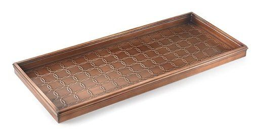 Good Directions 100VB Circles MultiPurpose Boot Tray for Boots Shoes Plants Pet Bowls and More Copper Finish * Read more reviews of the product by visiting the link on the image. This is Amazon affiliate link.