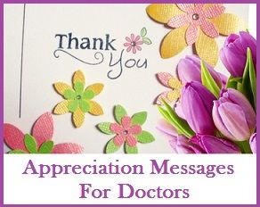 Thank you messages for Doctors