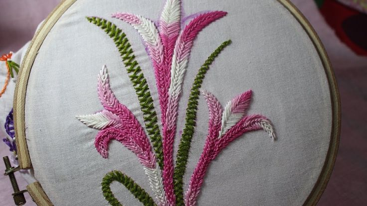 Hand Embroidery Designs   Basic embroidery stitches # Part-9   Stitch and Flower-105 - YouTube