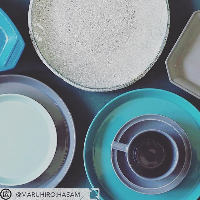 #regram @maruhiro.hasami #via #APP #ootd_WITH :Green & Gray    #皿  #hasami   #plate   #green   #gray   #マルヒロ  #波佐見焼  #馬場商店  #porcelain   #ceramics   #hasamiporcelain    #モノヤ白河  #MONOya白河