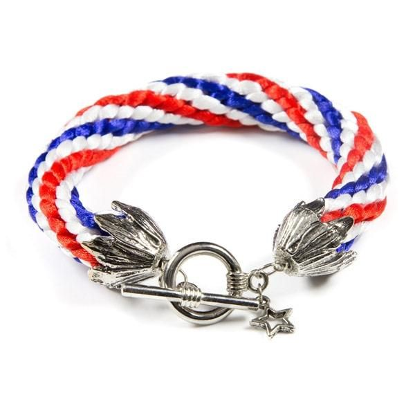 Stars and Stripes Kumihimo Bracelet