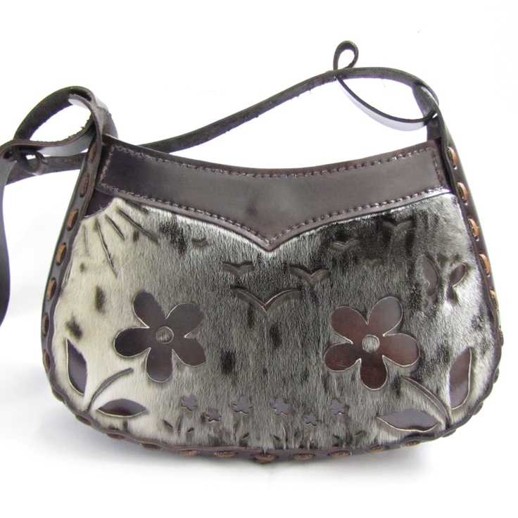 Tundrabloom Handbag :: Spotted Seal Skin :: Vegetable Tan Leather