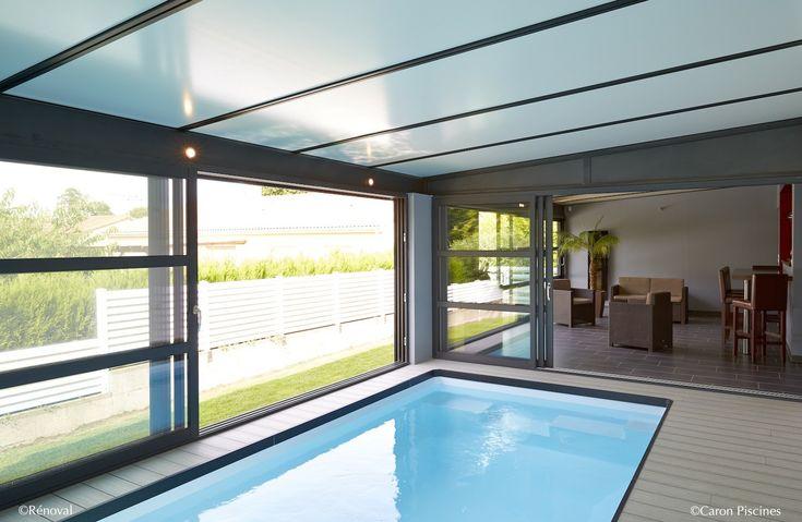 Piscine int rieure sous v randa caron piscines piscine for Piscine interieur