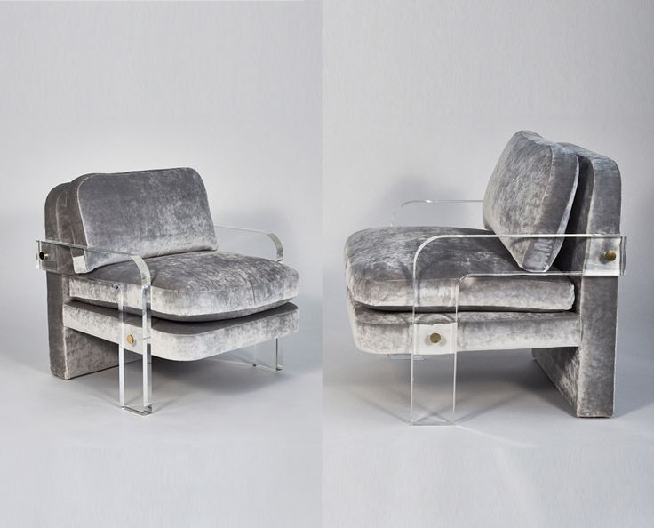 Vladimir Kagan, Pair of Oversized Lucite Lounge Chairs, USA, circa 1970s | From a unique collection of antique and modern armchairs at https://www.1stdibs.com/furniture/seating/armchairs/