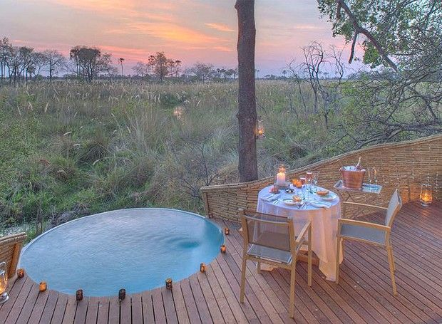 Beleza e aventura em hotel sustentável na savana africana