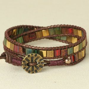 Mosaic Wrap Bracelet tutorial - this video is so awesome!!  I wish I had all those tools...