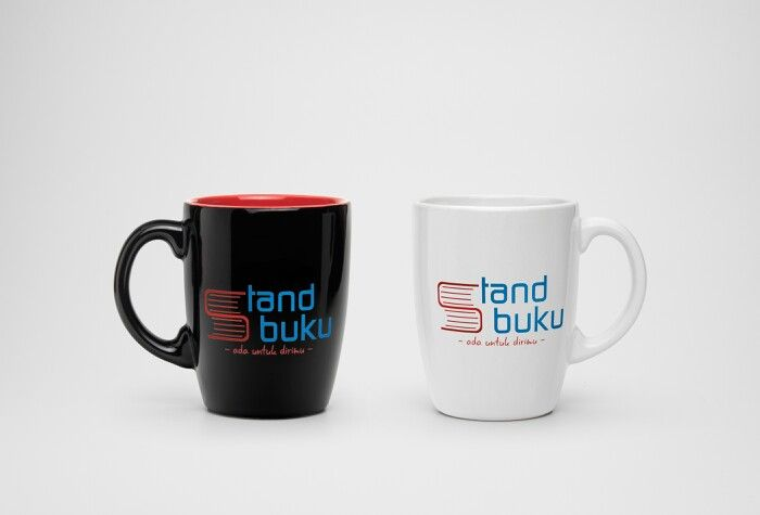 Mug mockup design for other online bookstore in Indonesia.