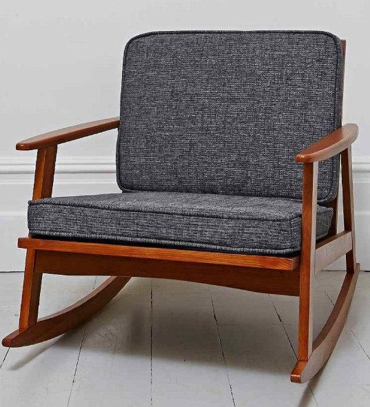 Danish Mid Century Inspired Rocking Chair Now van GrabASeat op Etsy