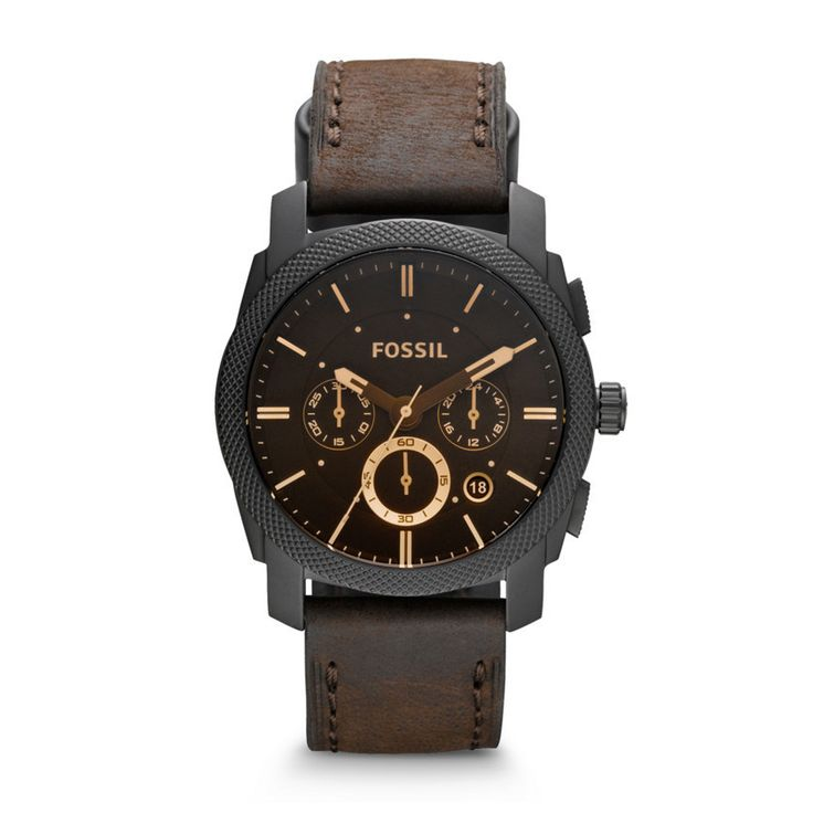 Fossil Leather Crocodile Analog with Brown Dial Watch - FS4656