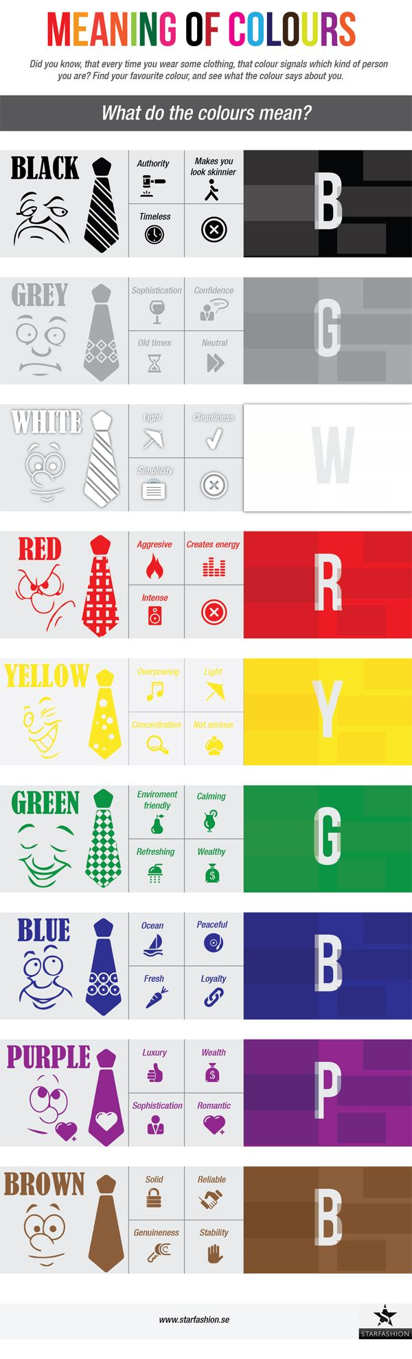 Significado de los colores #socialmedia #socialmarketing #mobile