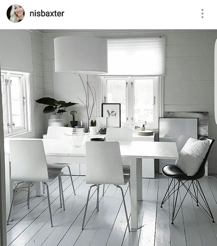 My scandinavian white diningroom  Instagram: nisbaxter