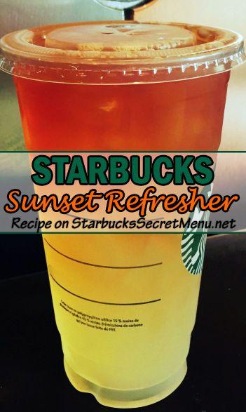 Brighten up your day with a #Starbucks Sunset Refresher! #StarbucksSecretMenu