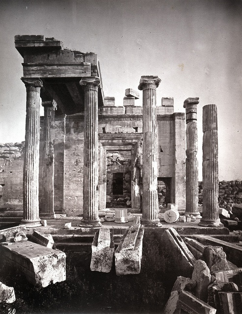 William J. Stillman - Portico of the Pandrosium, Athens, 1868