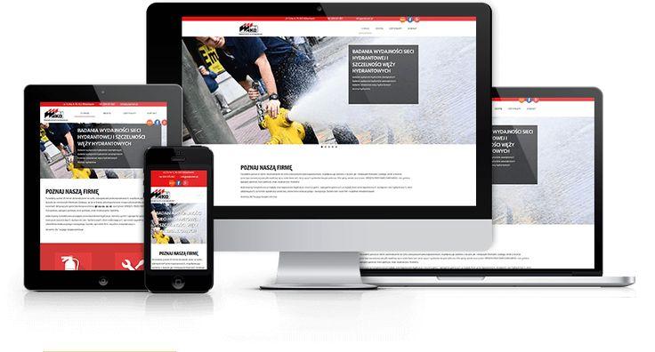 Responsywna strona wizytówkowa dla firmy zajmującej się zabezpieczeniami przeciwpożarowymi zaprojektowana i wykonana przez WiWi #responsive #design #webdesign #inspiration #Responsive #Web #layout