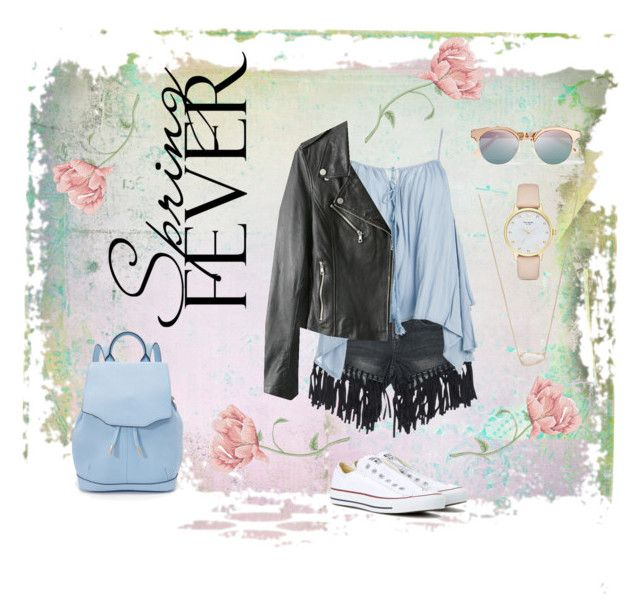 Spring Fever by bosko on Polyvore featuring polyvore, fashion, style, Sans Souci, Converse, rag & bone, Kate Spade, Kendra Scott, Le Specs, clothing and springdate