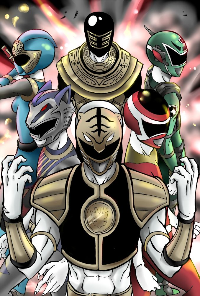 Awesome Power Rangers fan art by SirBetito