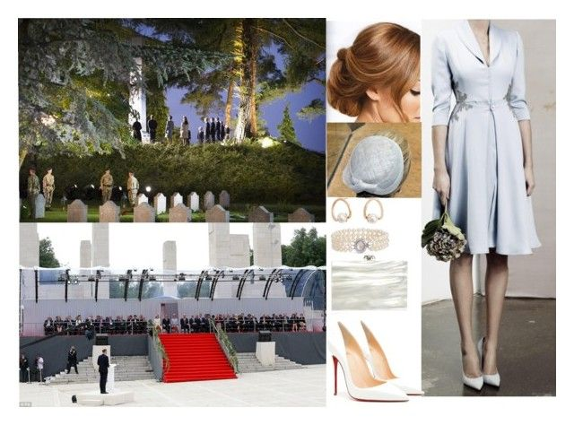 """Attending commemorations for the Centenary of the First World War in Belgium"" by otma-cc ❤ liked on Polyvore featuring Lauren Conrad, Blue Nile, MANGO, Christian Louboutin and Charlotte Olympia"