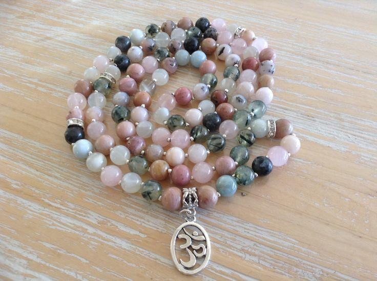 Gemstone Mala, 8mm beads