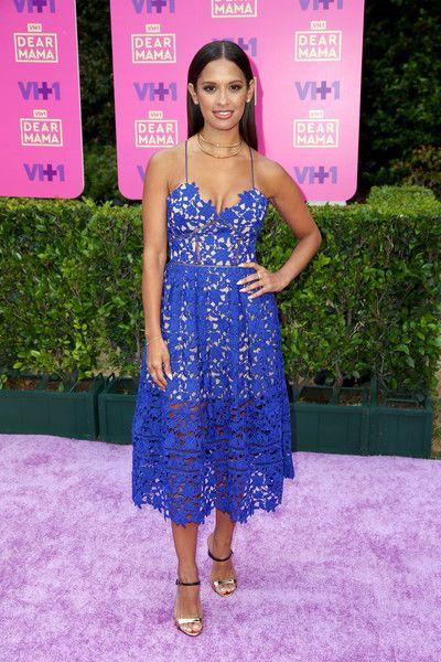 Rocsi Diaz Sundress - Rocsi Diaz channeled summer in a blue openwork sundress by Self-Portrait for VH1's Dear Mama event.
