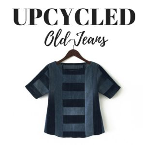 How to Upcycle Old Jeans Into a Denim Shirt