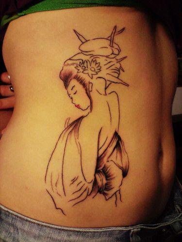 Geisha [en progreso] - basado en 2 tatuajes diferentes, pudimos diseñar esta geisha para mi Amigaza Panxa! Solo el delineado y un poco de sombra. Faltan los colores y unas hojas alrrededor + un arbol de sakuras que estara en la aprte de arriba. Saludos a los que pasen. CONTACTO: aleajactaes@hotmail.com BISONTE - Fotolog