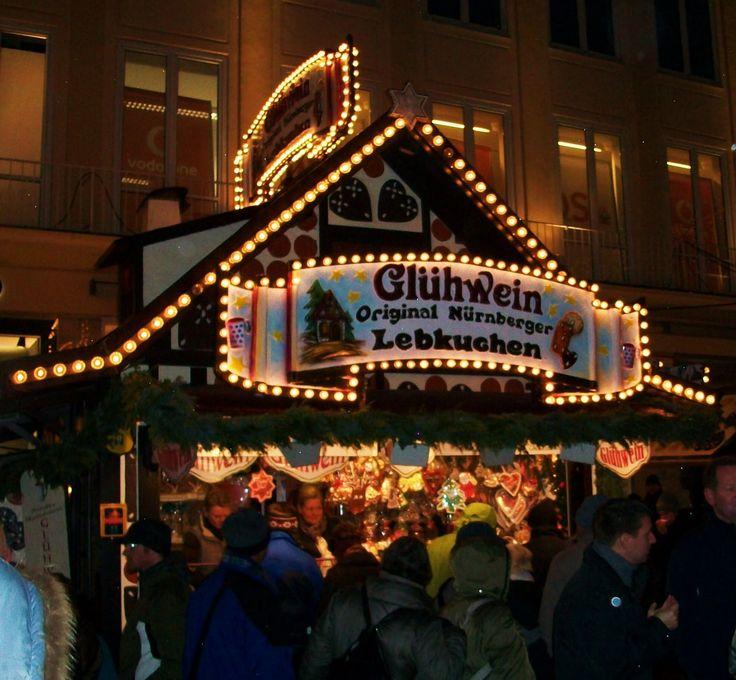 Sipped Gluhwein on Marineplatz in Munich Christmas Mart... A hot German spiced wine