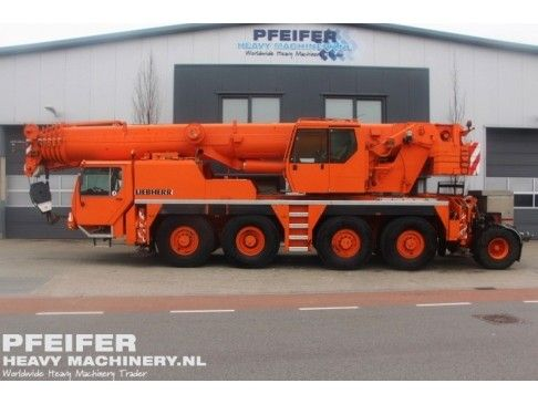 #Used #LIEBHERR - #LTM1080-1 #telescopic #crane available at #Pfeifer #Heavy #Machinery. Year of construction 1999. Boom length maximum (m) 48. Loading (lifting) capacity (kg) 80000. Fuel Diesel. Kilometers 124527. Hours carrier 7170. Hours superstructure 14051. PHM-Id 06715