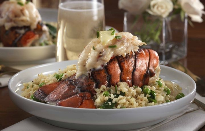 Cauliflower 'Risotto' with Lobster Tail
