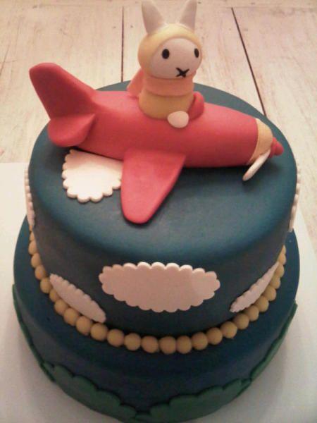 nijntje piloting a plane cake