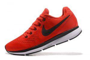 98f08c2c2ced4 Mens Nike Air Zoom Pegasus 34 FlyEase Rush Maroon Bright Crimson Phantom  Black 880555 603 Running