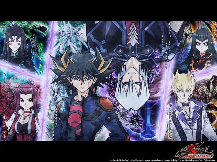 Yu-Gi-Oh! 5D's. Signers vs. Dark Signers. Yusei vs. Kalin, Jack vs. Carly, Akiza vs. Misty, Luna and Leo vs. Devak, Crow vs. Griger, Yusei, Jack, Crow vs. Goodwin.