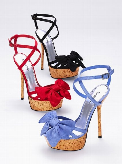 These are super cute: Platform Heels, Bows Heelsfavorit, Bebe Bows, Blue, Bows Heelssexi, Summer Heels, Bows Sandals, Shoes Addiction, Bows Shoes