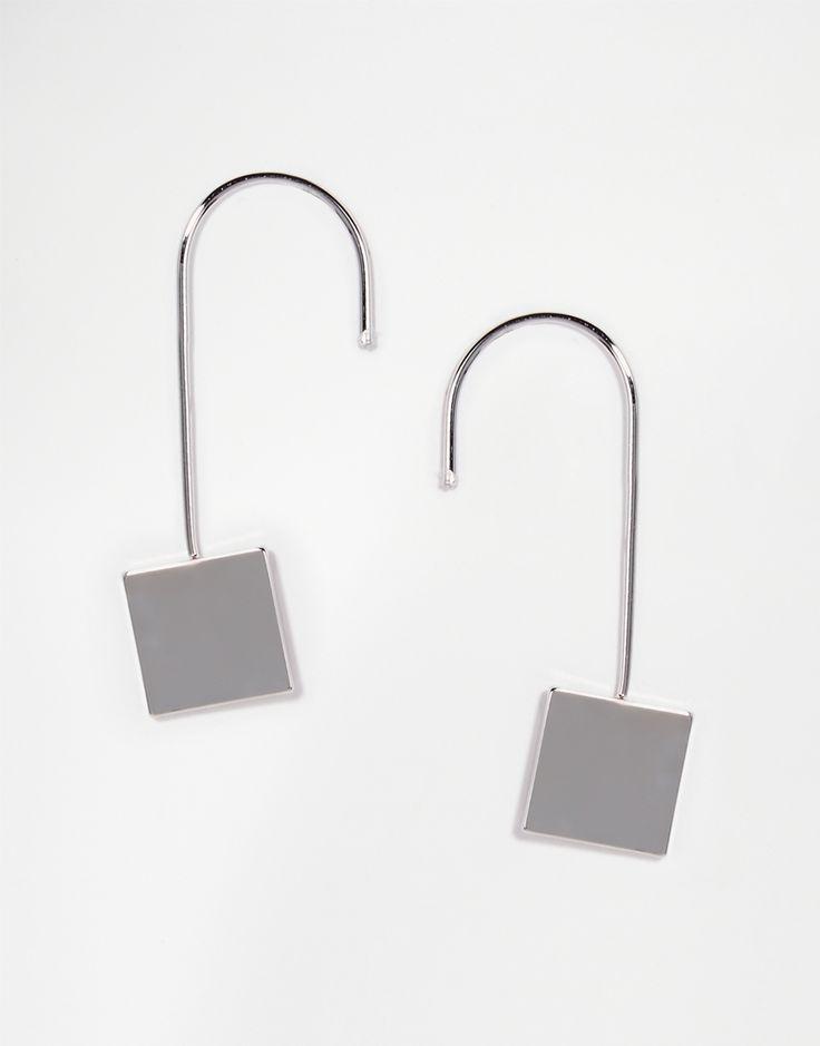 ASOS   Серьги ограниченной серии с подвесками в виде квадратов на ASOS